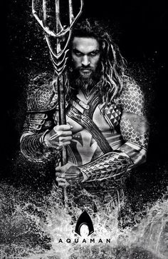 Here's a little poster I made with the first picture of Jason Momoa as Aquaman from Batman v Superman: Dawn of Justice. Comic Book Characters, Comic Book Heroes, Comic Character, Comic Books, Jason Momoa Aquaman, Top Superheroes, Univers Dc, Movies And Series, Batman Vs Superman