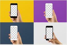 Gui 판넬 - 아이폰 6 합성 목업. 손으로 아이폰을 잡고있는 목업을 이용해 제품과 연동된 화면을 보여주는데 참고한다.