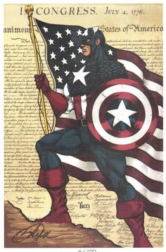 Captain America Print - Multiple Available - Signed & Numbered by Billy Tucci, in Anthony Snyder's Tucci, Billy Comic Art Gallery Room - 816389 - Visit to grab an amazing super hero shirt now on sale!