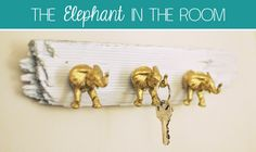DIY  :: Elephant Key Hooks ( http://www.creativesoulspectrum.com/2012/11/diy-elephant-key-hooks.html )