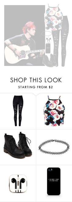"""•Your dead eyes before mine. The way they're missing their whites, Yeah, they're just right. I know you're dead inside•"" by cupcake-muke ❤ liked on Polyvore featuring moda, Boohoo, PhunkeeTree, women's clothing, women, female, woman, misses i juniors"