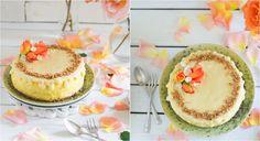 cheesecake de chocolate blanco y naranja