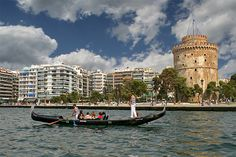 Gondola from Venice in Thessaloniki Republic Of Macedonia, Cultural Capital, Outdoor Activities, Venice, Beautiful Places, Europe, Boat, Adventure, Country