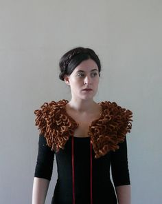 Detachable Collar, Fake Fur Collar, Jacket Collar - The Siren in Hazlenut