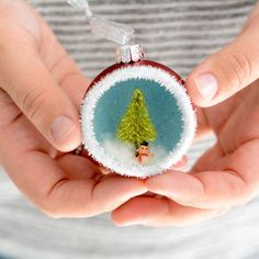 Learn how to make these vintage inspired diorama ornaments for your tree this year.