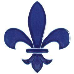 """Fleur de Lis Blue 6"""""""