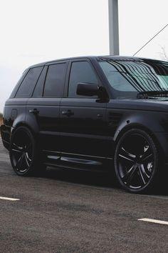 Black Range Rover with black rimsdream car  My kind of