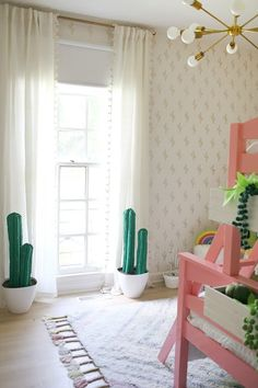 the boo and the boy: palm springs inspired girls' room