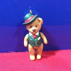 """Hallmark /""""Teddy Bear Style/""""  Miniature Ornament 1997"""