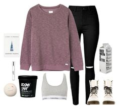 """"""".001 the new me"""" by lizzielane33 on Polyvore featuring RVCA, Calvin Klein, Dr. Martens and philosophy"""