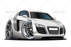 0477005d Vector Cartoon Sport Car Train Illustration, Car Vector, Audi Rs, Car  Sketch,