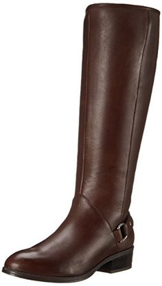 90acff2cfde Lauren Ralph Lauren Women's Micaela Riding Boot, Dark Brown Burnished Calf,  9 B US