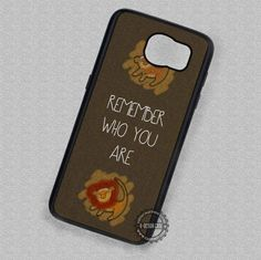 Remember Who You Are Lion King Simba - Samsung Galaxy S7 S6 S5 Note 7 Cases & Covers #cartoon #disney #thelionking #quote #phonecase #phonecover #samsungcase #samsunggalaxycase #SamsungNoteCase #SamsungEdgeCase #SamsungS4MiniCase #SamsungS4RegularCase #SamsungS5Case #SamsungS5MiniCase #SamsungS6Case #SamsungS6EdgeCase #SamsungS6EdgePlusCase #SamsungS7Case #SamsungS7EdgeCase #SamsungS7EdgePlusCase