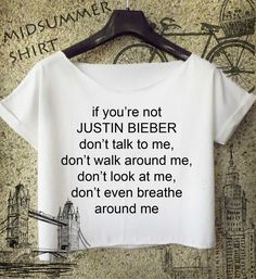 justin bieber shirt if you are not cropped tee for women white and black crop…