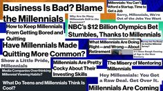 Hey Bloomberg, Which Millennial Hurt You?