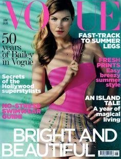 Angela Lindvall - June 2010 Vogue UK cover