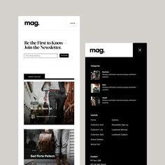The Mag website theme is a classy template designed as an online magazine layout - MuseThemes Navigation Design, App Ui Design, Mobile App Design, Text Design, Magazine Website, Web Magazine, Website Design Layout, Website Design Inspiration, Coin App