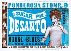 Sugar Pie Desanto Ponderosa Stomp 9 Letterpress by Church of Type