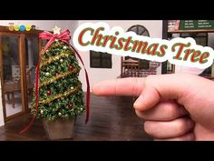 DIY Miniature Christmas tree - YouTube