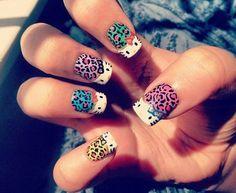 animal kitty nail art design