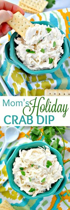 You Just need 10 minutes to prepare Mom's Holiday Crab Dip! Serve it hot or … You Just need 10 minutes to prepare Mom's Holiday Crab Dip! Serve it hot or cold for an easy appetizer that's perfect for every celebration! Seafood Dip, Seafood Appetizers, Appetizer Dips, Appetizers For Party, Appetizer Recipes, Cold Appetizers, Salad Recipes, Party Snacks, Shrimp Dip