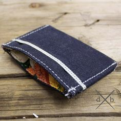 skinny selvedge denim wallet