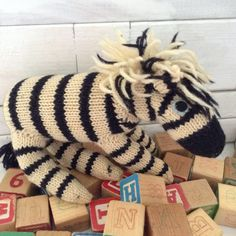 Zebra - Amigurumi - Stuffed Animal - Fantasy Toy - Whimsical - Waldorf - original - handmade - vintage - Nursery Decor -  Jungle Theme  - by TheWhatNaught on Etsy