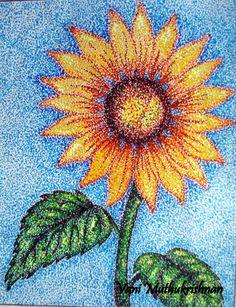 pointillism | Pointillism sunflower