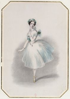 Early century dancer Marie Taglioni, who created the title role in her… Ballerina Dancing, Little Ballerina, Ballet Dance, Fairy Dust, Fairy Tales, Vintage Ballet, Fashion Illustration Vintage, Ballet Costumes, Dance Art
