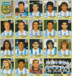 Argentina team stickers for the 1994 World Cup Finals. Fifa Football, Best Football Team, National Football Teams, World Football, School Football, Football Kits, Argentina Team, Argentina World Cup, Argentina Football