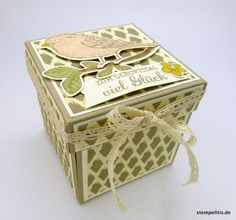 Geschenke für Frauen - Explosionsbox Geschenk Vogel - ein Designerstück von Stempelitis bei DaWanda