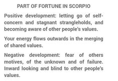 Part Of Fortune, Other People, Letting Go, Astrology, Self, Houses, Positivity, Let It Be, Space