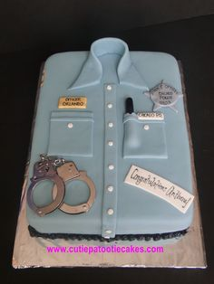 Police Shirt Cake.. Welcome to the CPD!