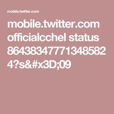 mobile.twitter.com officialcchel status 864383477713485824?s=09