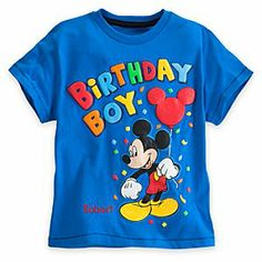 Disney Mickey Mouse Birthday Boy Tee for Boys - Personalizable   Disney StoreMickey Mouse Birthday Boy Tee for Boys - Personalizable - Clutching a balloon, Mickey will give your birthday boy a lift as he helps him celebrate his special occasion. Raised puff ink artwork makes this colorful tee stand out, just like your little one on his big day!