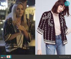 Maddie's black and white embroidered jacket on Nashville. Outfit Details: https://wornontv.net/66001/ #Nashville