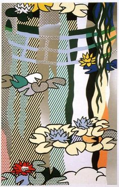 By Roy Lichtenstein, 1 9 9 2, Water Lilies with Japanese Bridge, © Loretta Howard Gallery, NY.