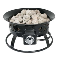 Sunward Patio Portable Outdoor BTU Propane Fire Pit / Fire bowl / Lava Rocks, Carry Handle, Lid and Weather Resistant Bag Included! Outdoor Propane Fire Pit, Fire Bowls, Outdoor Storage, Dog Bowls, Lava, Rocks, Weather, Handle, Patio