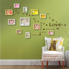 24 Romantic Ideas for Wall Photo Frame Art Home Projects, Home Crafts, Beach Canvas Wall Art, Living Room Background, Room Decor, Wall Decor, Eclectic Decor, Photo Displays, Ideal Home