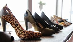 NeuAura and Mink showed off their line of vegan shoes, including those with animal prints and skin textures.