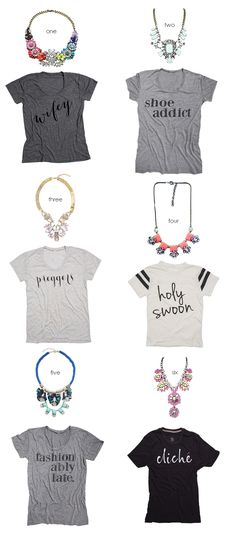 statement necklaces + tees - www.lovelucygirl.com