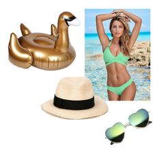 """""""Poolside"""" by freckled-gypsy ❤ liked on Polyvore featuring Venus, Sunnylife and Eugenia Kim"""
