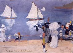 Joaquín Sorolla Bastida - Sol y Mar, 1912 - San Telmo Museoa, San Sebastián Paintings I Love, Beautiful Paintings, Sea Paintings, Virtual Art, Madrid, Spanish Artists, Art Academy, Pictures To Paint, Figure Painting