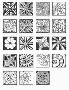 zentangle patterns for beginners yahoo image search results
