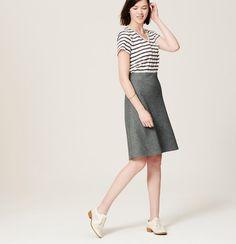 Flannel Skirt   Loft