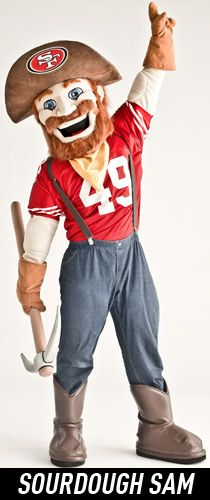San Francisco 49ers Mascot - Sourdough Sam  Created by Street Characters Inc.