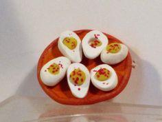 Miniature plate of deviled eggs by bluebonnetladies on Etsy