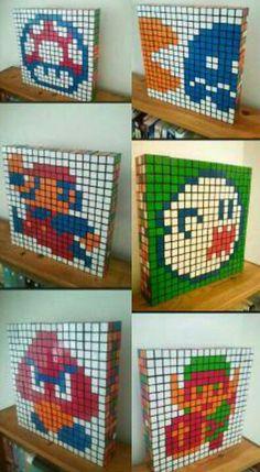 Rubiks cube pixel art