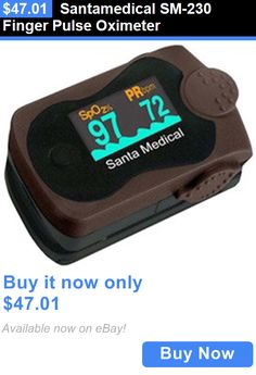 Oximeters: Santamedical Sm-230 Finger Pulse Oximeter BUY IT NOW ONLY: $47.01