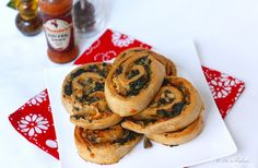 For a great start to the morning or to stave off that mid-day energy slump, I have a nifty recipe for you. Try these Spinach and Mushroom Whole Wheat Rolls. Filled with baby spinach, tomato sauce, button mushrooms, onions, garlic and cheese, these rolls are soft, fluffy, delicious and comforting. And you don't feel guilty after devouring them.